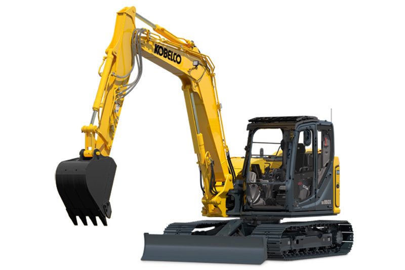 2019 KOBELCO SK85CS-7 SHORT REAR SWING EXCAVATOR
