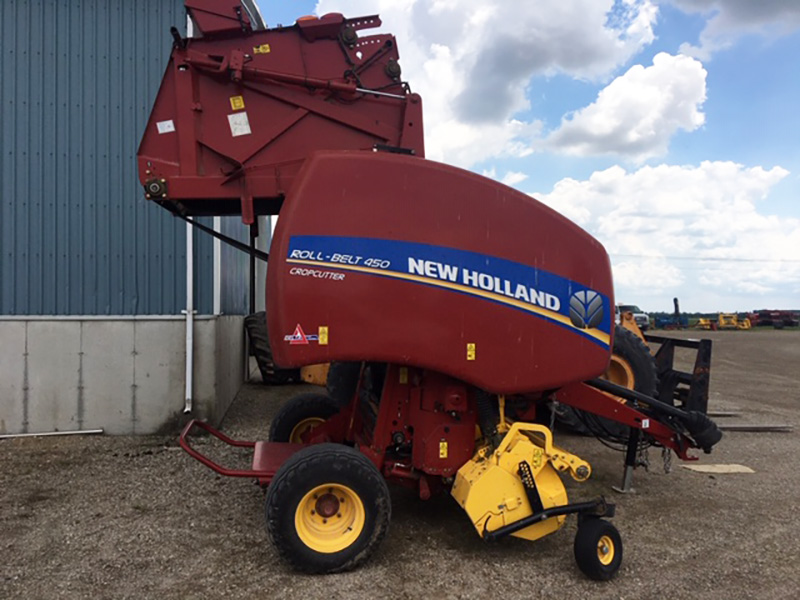 2018 NEW HOLLAND ROLLBELT 450 ROUND BALER